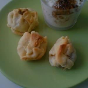 simple à cuisiner Aumônières au tofu fumé et aux oignons préparation
