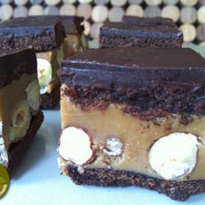 simple à préparer Bouchées chocolatées noisettes-caramel recette de