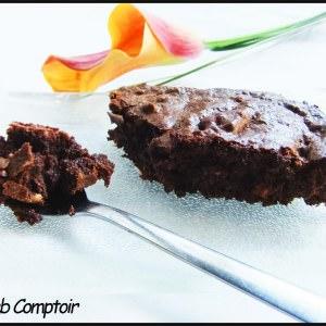 facile Brownie chocolat-amandes et fleur d'oranger recette de