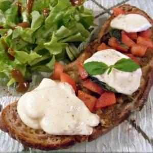 simple à préparer Bruschetta à l'aubergine grillée et stracchino recette