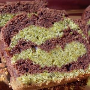 facile à cuisiner Cake marbré, chocolat pistache (Vegan)  recette végétarienne