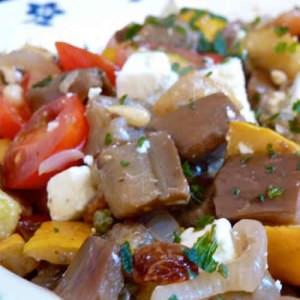 facile Caponata d'Aubergines et Courgettes cuisiner la recette