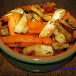 simple à cuisiner Carottes et navets rôtis au miel cuisine végétarienne