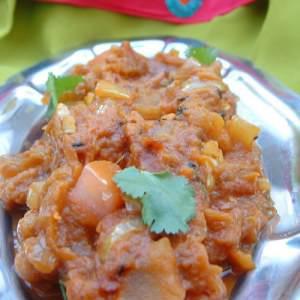 facile à cuisiner Caviar d'aubergine à l'indienne recette végétarienne