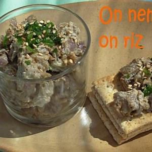 simple à cuisiner Caviar d'aubergine au sésame recette végétarienne