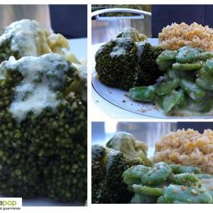 simple à cuisiner Céréales aux fèves et brocolis - crème d'amande à la... cuisine végétarienne