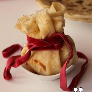 rapide Aumônière pomme-gingembre-sirop d'érable recette végétarienne