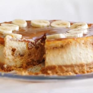 rapide à cuisiner Cheese cake bananes et caramel  recette de
