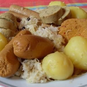 facile à cuisiner Choucroute garnie (Vegan) préparation