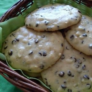 simple à préparer Cookies amande et pépites de chocolat  cuisine végétarienne