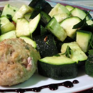 simple à préparer Courgettes au four à la vinaigrette au persil et pignons... cuisiner la recette