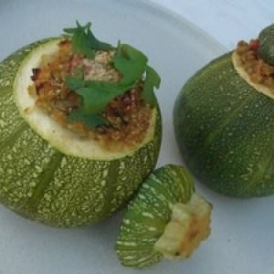 simple à préparer Courgettes farcies au quinoa préparation