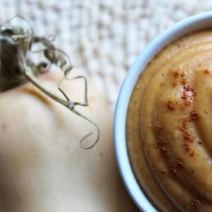 simple à préparer Crème douce à la butternut, marron et noisette cuisine végétarienne