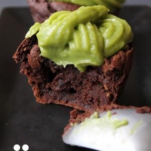 simple à préparer Cupcake chocolat avocat cuisine végétarienne