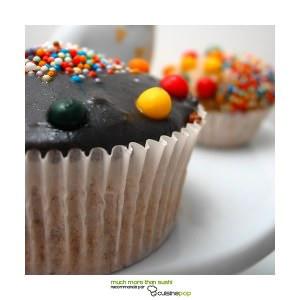 rapide Cupcakes citron et sésame noir recette végétarienne