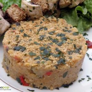 simple à cuisiner Duo de quinoa et lentilles corail à la ratatouille  recette de