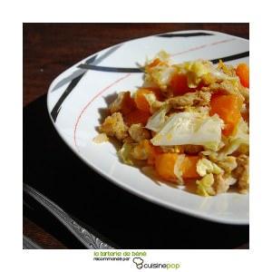 rapide à cuisiner Emincé de chou chinois à la courge  cuisine végétarienne