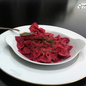 simple à préparer Farfalles au coulis rose préparation
