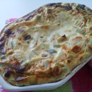 simple à préparer Flan à la ricotta et aux poireaux  recette végétarienne