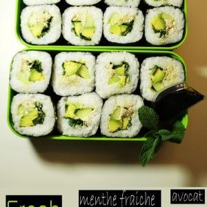 rapide à cuisiner Fresh MAKI : Menthe fraiche/Chèvre... recette