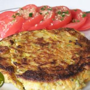 facile à cuisiner Galette de légumes-amande croquantes recette de