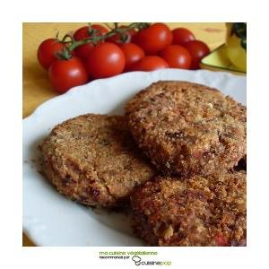 simple à cuisiner Galettes d'haricots rouges et poivrons  recette