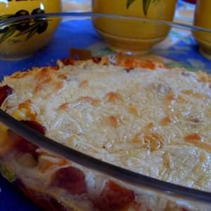 simple à préparer Gratin de gnocchis au chorizo et mozzarella - Vegan  préparation
