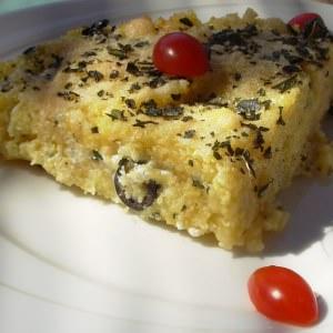 facile Gratin de polenta à la grecque cuisine végétarienne