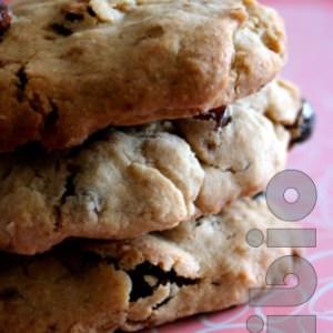rapide à cuisiner Cookies raisins flocons de riz préparer la recette