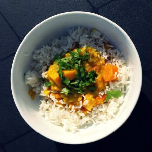 rapide à cuisiner Kitchari aux carottes et patates douces préparation