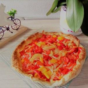 simple à préparer Koka (tarte aux poivrons espagnole) recette
