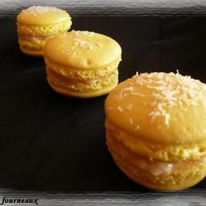 rapide à cuisiner Macarons ganache à la noix de coco préparer la recette