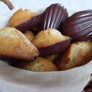 simple à préparer Madeleines à l'orange en coque de chocolat noir recette