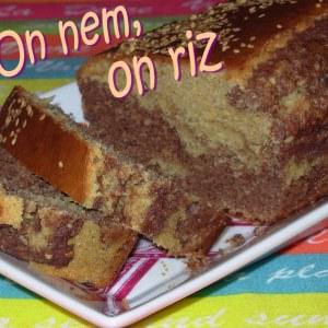 rapide Marbré chocolat noir-sésame cuisiner la recette
