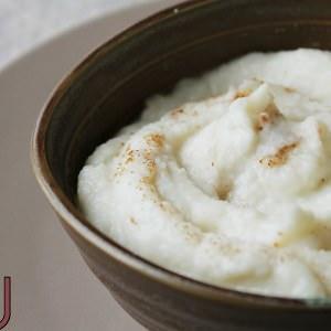 rapide Mousseline Chou-fleur, épeautre et pain d'épices recette végétarienne