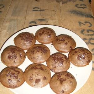 facile à cuisiner Muffin au chocolat et pépites de chocolat Sans Gluten et... recette végétarienne