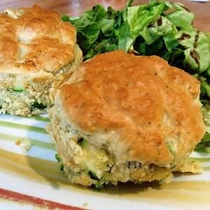 rapide Muffins de courgette à la bûche de chèvre cuisine végétarienne