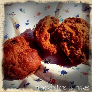 rapide Muffins tout moelleux pomme-cranberry-mangue recette végétarienne