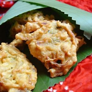 rapide Oignons bhaji Beignets d'oignons indiens recette