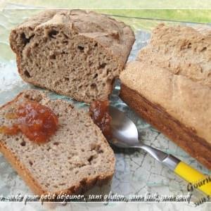 rapide Pain cake pour petit déjeuner, sans gluten, sans lait,... préparation