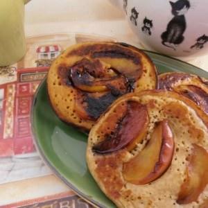 facile Pancakes à la pomme caramélisés préparation