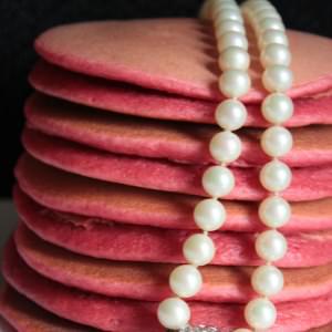 rapide Pancakes roses à la betterave recette