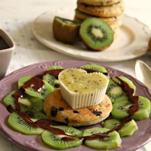 facile à cuisiner Panna cotta au kiwi et pancakes sans gluten - Végétalien cuisiner la recette