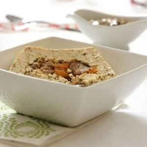 simple à préparer Pavé de tofu farci aux marrons préparation