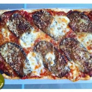 facile à cuisiner Pizza aubergines et mozzarella recette