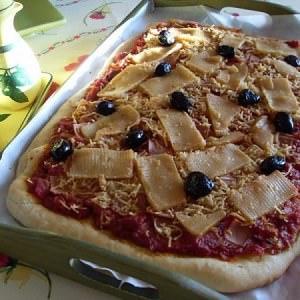 simple à cuisiner Pizza végétalienne jambon fromage  cuisiner la recette