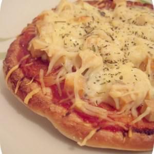 simple à préparer Pizza pita roquefort-tofu recette végétarienne