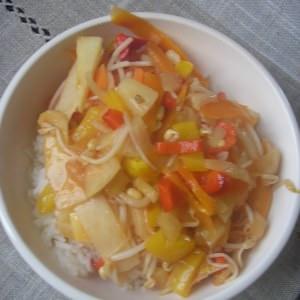 simple à cuisiner Wok de légumes à l'aigre-douce préparer la recette