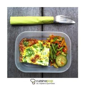 simple à préparer Popote de clafoutis brocolis recette végétarienne