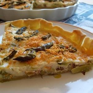 simple à cuisiner Tarte végétalienne aux asperges vertes  préparation